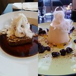 Chocolate Torte with Fairy Floss and Panacotta