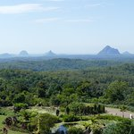 View of glasshouse mountains