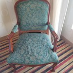 This chair is just one example of the ancient decor