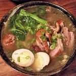 Roast Duck Ramen w/ seasoned boiled egg.