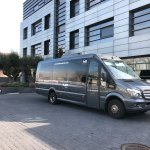 Free shuttle bus of the hotel.
