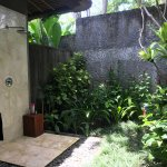 Open air (but private, of course) shower