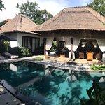 Own pool, very relaxing.