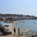 Pretty beach of Platy Gialos