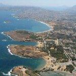 Agii Apostoli three peninsulas and beaches.