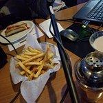 All-Beef Hot Dog, Cajun Fries, Salted Caramel Martini