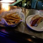 Cajun Fries (L) and All-Beef Hot Dog