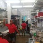 Trabajo de equipo en la cocina
