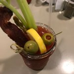 Bloody Mary with the bacon strip ... amazingly good
