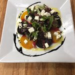 Red and gold beet salad