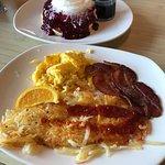 Triple berry breakfast