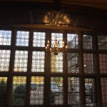 Fascinating ceilings and stained glass windows plus our room with a view from sunset to sunrise.