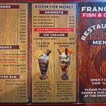 Franco's menu