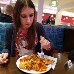 Enjoying my food