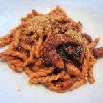 FUSILLI (durum wheat pasta, red wine braised octopus, bone marrow)
