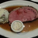 My 14-ounce prime rib and mashed potatoes