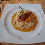 Seafood risotto with Gallipoli red prawn.