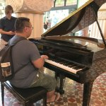 Visitor Playing Piano