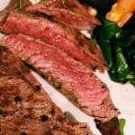 The rump steak - medium rare