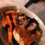 The lamb rump with potato dauphinoise and veg