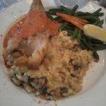 Queue de lotte à l'armoricaine et risotto de fruits de mer