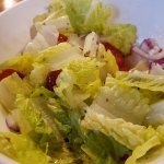Romaine salad. All you can taste is the salad oil!