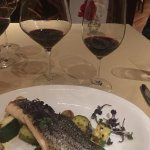 Striped bass with vegetables