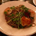 Scallop and soba noodles