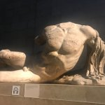 One of the Elgin Marbles, or Parthenon sculptures from the Parthenon Acropolis in Athens Greece.