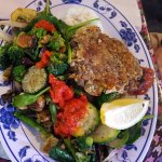 Vegetables with Lentil Patty