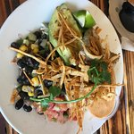 Ahi taco salad