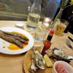 Sardines and oysters for starters