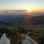 Sunset view with Pinto and Cacique.
