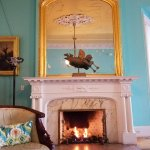 One of 2 fireplaces in the parlor