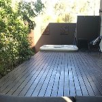 This is a pic from the day bed on the verandah side that has the spa.