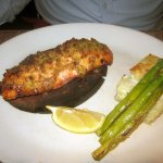 Cedar Plank Grilled Salmon with Fontina Potato Torta