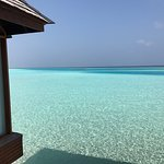 Crystal clear water at Anantara Dhigu
