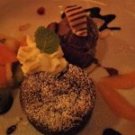 DELICIOUS chocolate cake & ice cream