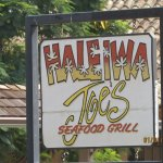 Sign to Haleiwa Joes Grill
