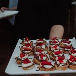 Some of the Canapes - Pizza was the main course.
