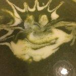 Un potage au cresson, avec la possiblité de faire des dessins !