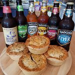 Pie and beer!