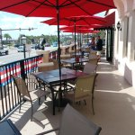 The new bayfront patio - great view and great food.