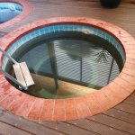 one of several geothermally heated soaking pools
