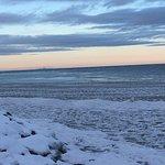 A view of Torotno across icy Lake Ontario