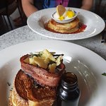 Benoffee Pancakes & French Toast bacon Maple Syrup and Parmesan Cheese