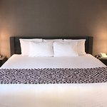 Queen Jr Suite with 1 queen bed, mini-fridge, gas fireplace, pullout sofa-bed, shower/jetted tub