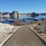 View of Lake Powell Marina from Nature Trail