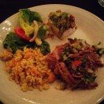 Maha large dinner on a plate