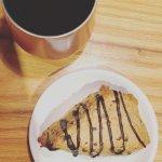 Medium roast & espresso scone!! Perfection!!
